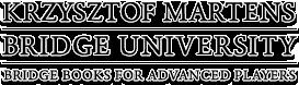 Krzysztof Martens - Bridge University Logo